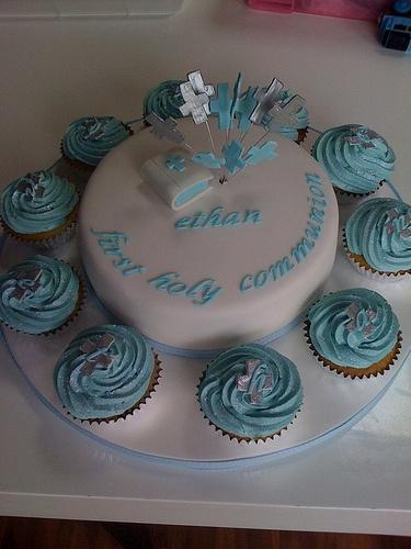 Boys communion cake