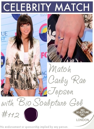 Match Carly Rae Jepsen's nails with Bio Sculpture Gel!