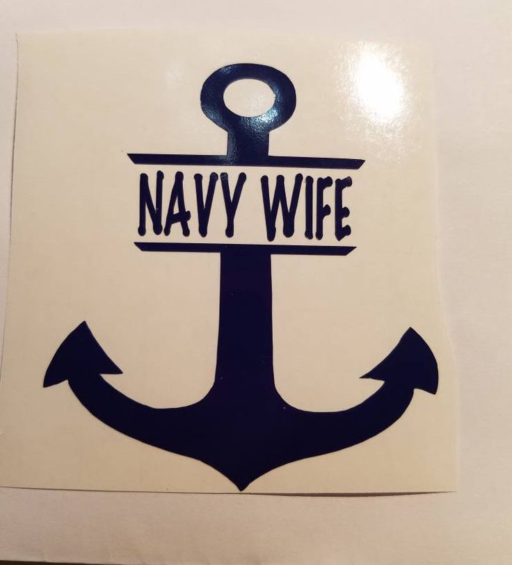 Navy Anchor personalized Decal w/name or title- permanent vinyl - great for Yeti & Rtic tumblers, laptops, car windows, home decor etc. by CandiGifts on Etsy