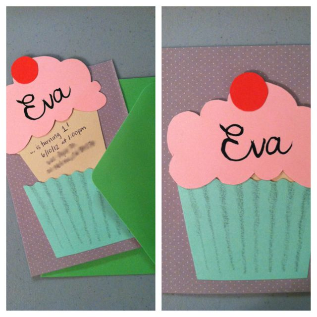 Cupcake invitation                                                                                                                                                                                 Plus