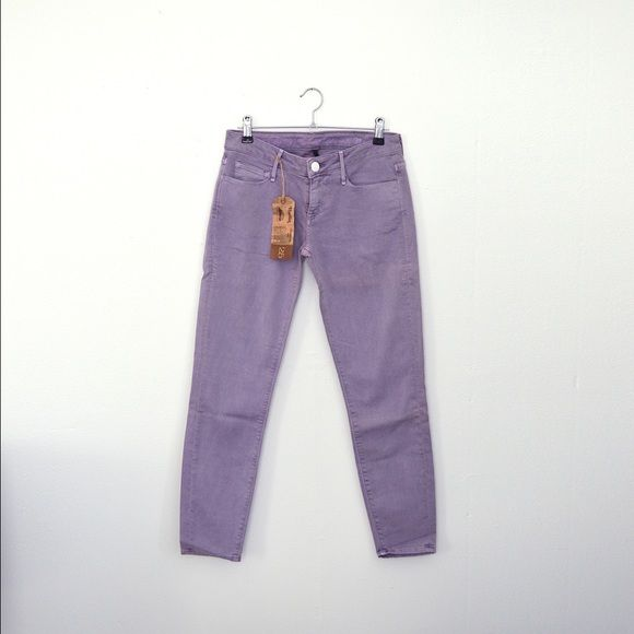 Earnest Sewn Lavender Purple Jeans Harlen Low Rise Awesome lavender jeans never worn a little too small otherwise there's I would not be selling they're so cool. Really soft cotton. They do have a tiny stain on the back top edge see photo. Earnest Sewn Jeans Skinny