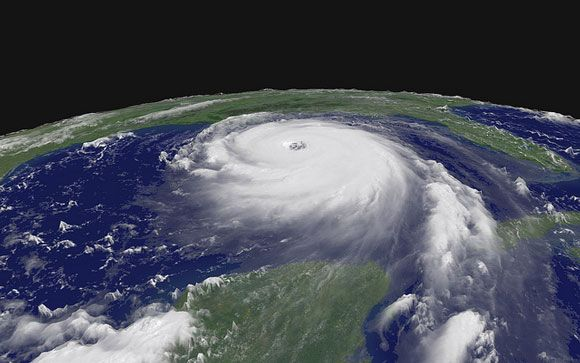 Hurricane Katrina on August 28, 2005. Image Credit: NASA. The names of hurricanes that are particularly damaging are retired for legal and historical reasons. For example, the use of the name Katrina was retired in 2005 following the devastating impact that Hurricane Katrina had on New Orleans.