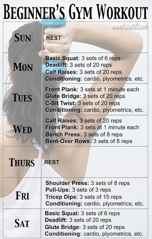 One Week Beginners Gym Workout