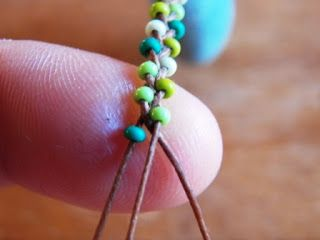 super simple... could teach it as an intro beading/friendship bracelet craft to child.
