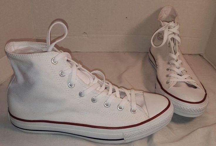 NEW CONVERSE CHUCK TAYLOR WHITE HI TOP SNEAKERS MEN'S 11 #Converse #BasketballShoes