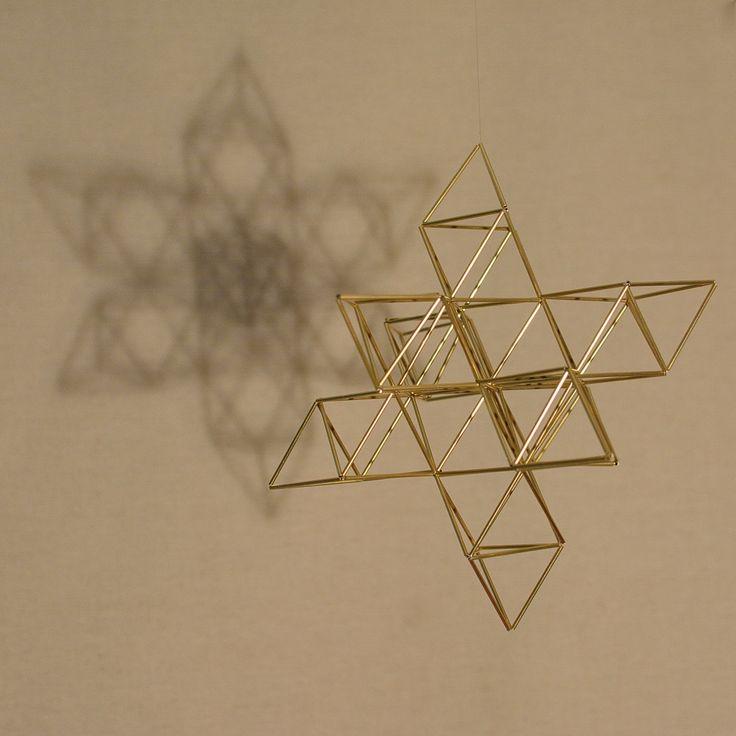 Fruit of Life 3D Himmeli Home Decor Sacred Geometry Pendant