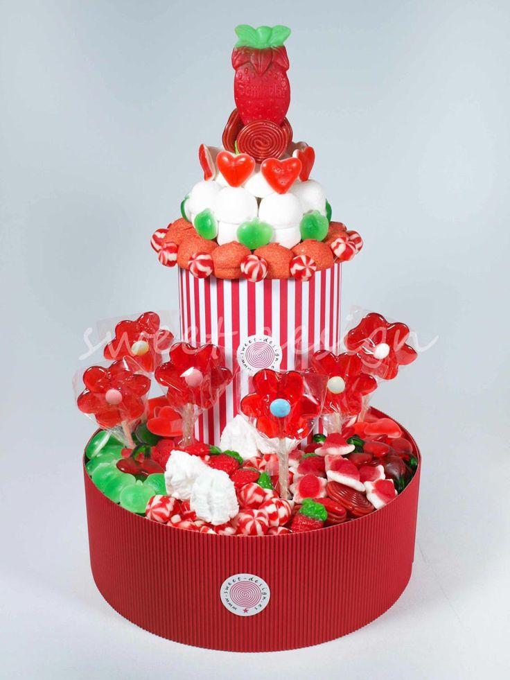 Tarta Dos Pisos Rojos y Verdes | Sweet Design