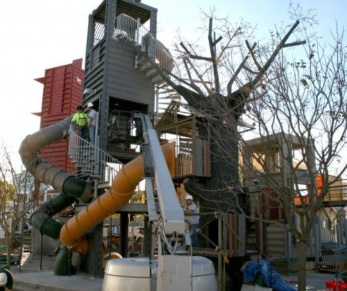Children's playground at Downtown Container Park, Las Vegas