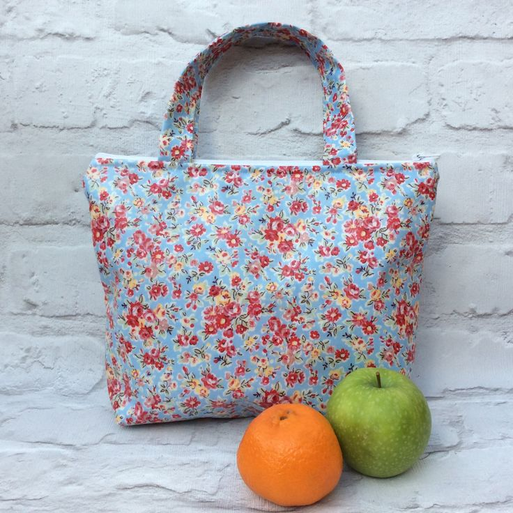 Lunch bag, Insulated lunch bag, Picnic bag, Insulated picnic bag, School lunch bag, Women's lunch bag, Girls lunch bag, Small  tote bag. by TotesByWendy on Etsy