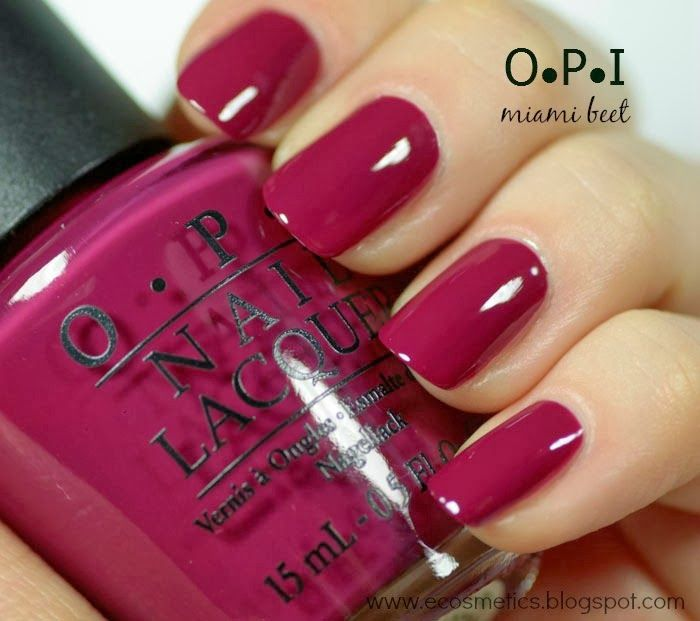 OPI Miami Beet - going on both hands and toes at tomorrows appointment!