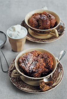 Coffee and fudge bread and butter pudding. #coffee #fudge #breadandbutterpudding #dessert #entertaining #foodandhome