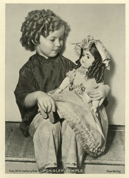 Love Shirley Temple with her doll