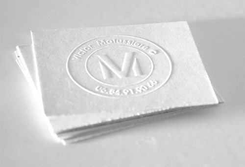 Creative business card for Victor Matussiere