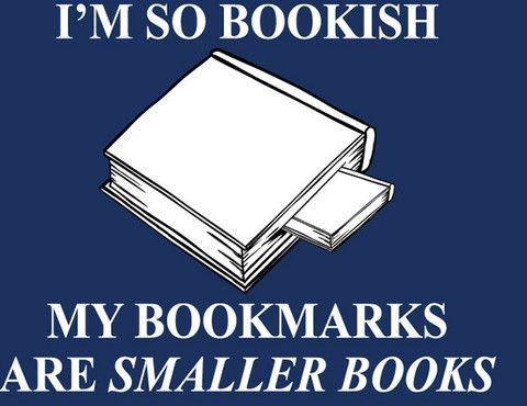I'm so bookish my bookmarks are smaller books: Mornings Breakfast, Bookmarks, Reading, Bookish Things, Books Nerd, Smaller Books, Books Lovers, Big Books, True Stories