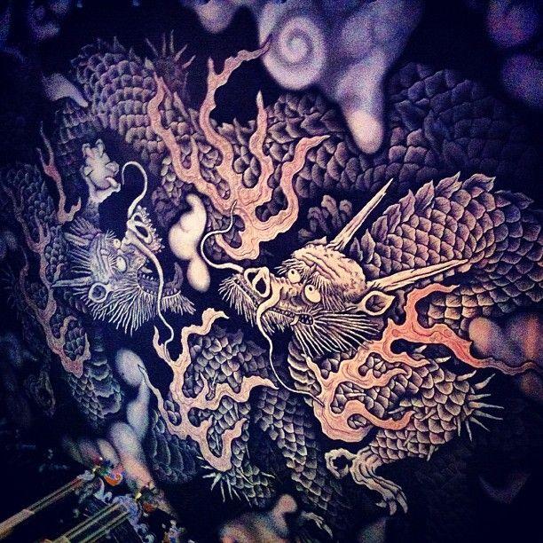 Ceiling of Kennin temple in Kyoto, Japan