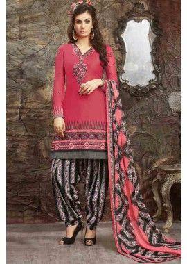 couleur rose glace coton patiala salwar kameez, - 67,00 €, #Robeindienne #Salwarkameezpascher #Salwarkameezmariage #Shopkund