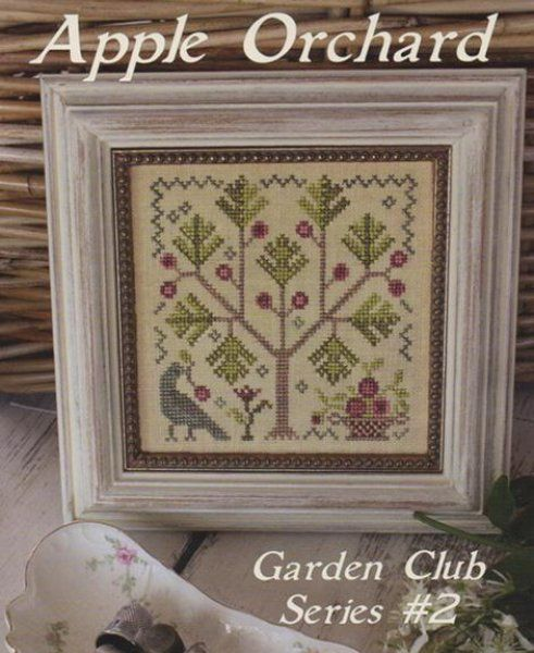 Apple Orchard is the title of this cross stitch pattern that is the second release in Blackbird Designs Garden Club Series. The cross stitch pattern