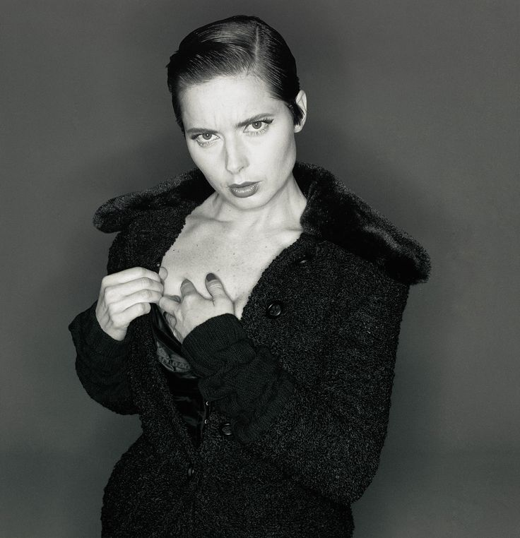 Isabella Rossellini in a photoshoot for Dolce & Gabbana, 1993, by Michel Comte