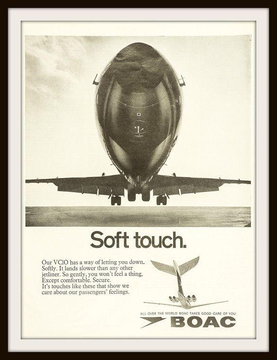 1969 BOAC Travel Advertisement. Vintage Travel ad. Vintage BOAC ad. Vintage airline ad. British Overseas Airways Corporation