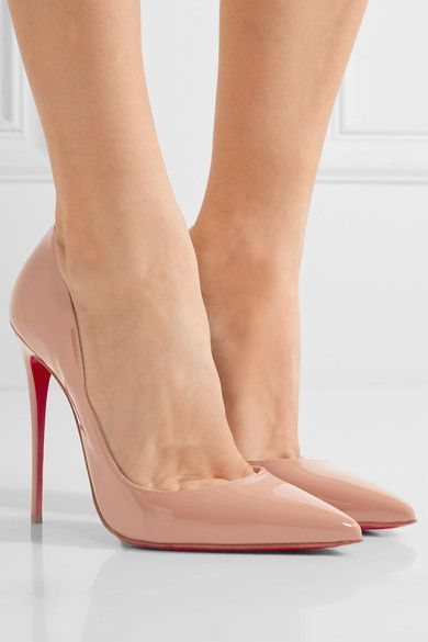 Christian Louboutin - So Kate 120 Patent-leather Pumps - Beige - IT37.5