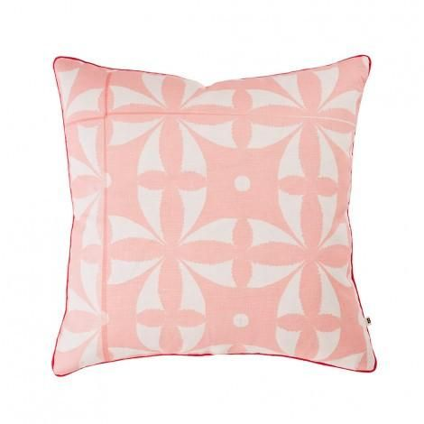 Bonnie and Neil Xanthe Dusky Pink Cushion 50cm | Bonnie and Neil – Salt Living or online at www.saltliving.com.au #saltliving #bonnieandneil #screenprinting #linen #cushion