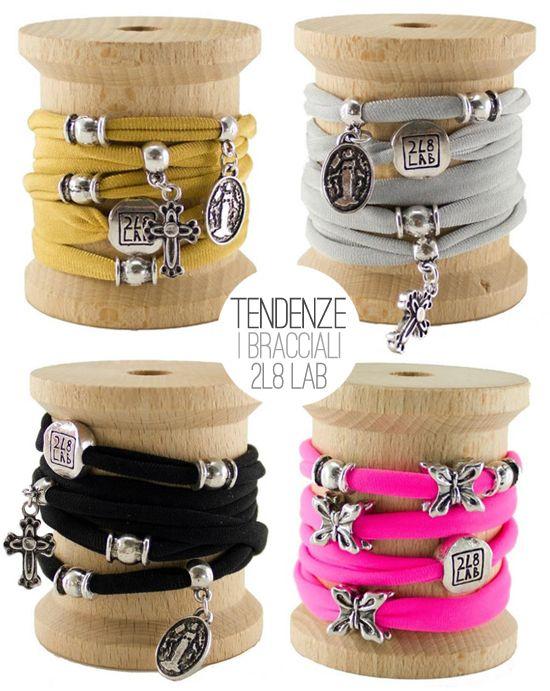 2L8LAB bracelets - #lycra #charms #colors #silver