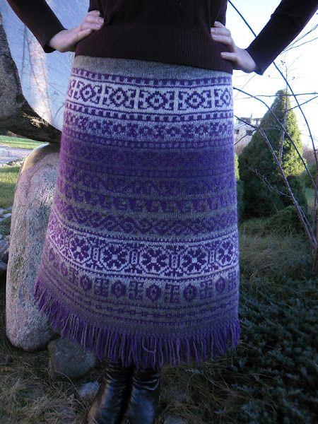 Осинка-Жаккардовая юбка.