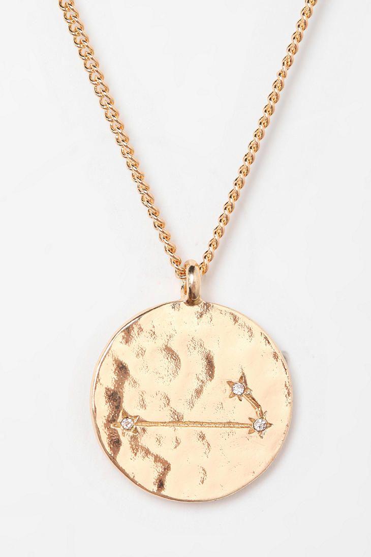 Rhinestone Zodiac Necklace ARIES