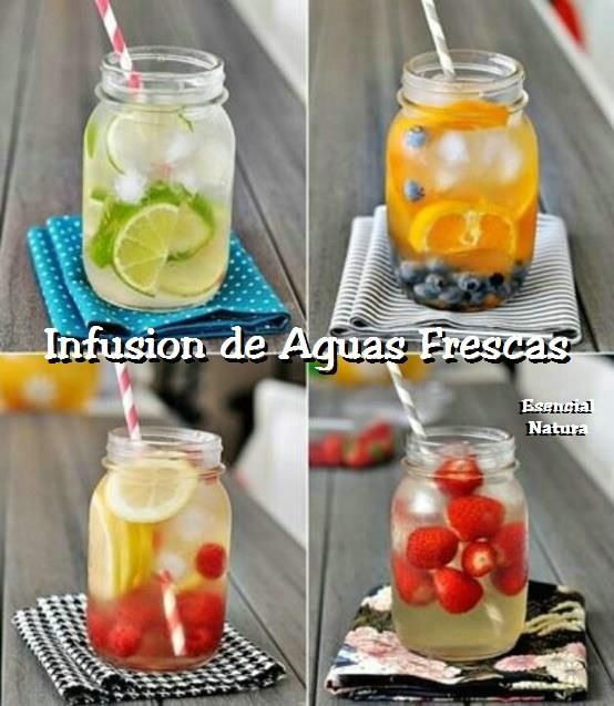 Tips: Recetas de Fruta fresca en infusión fria de agua;