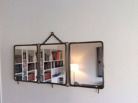 Les 60 meilleures images du tableau miroirs vintage sur for Grand miroir triptyque