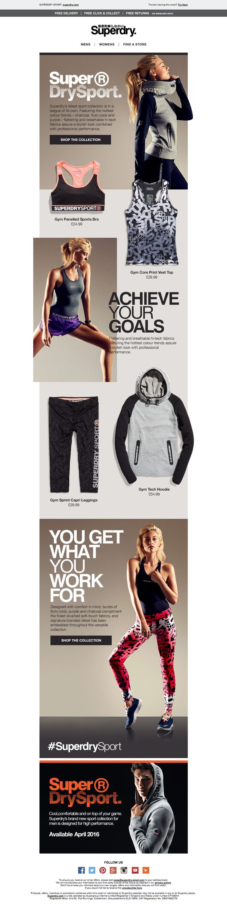 Superdry Sport Email / Newsletter Design                                                                                                                                                      More