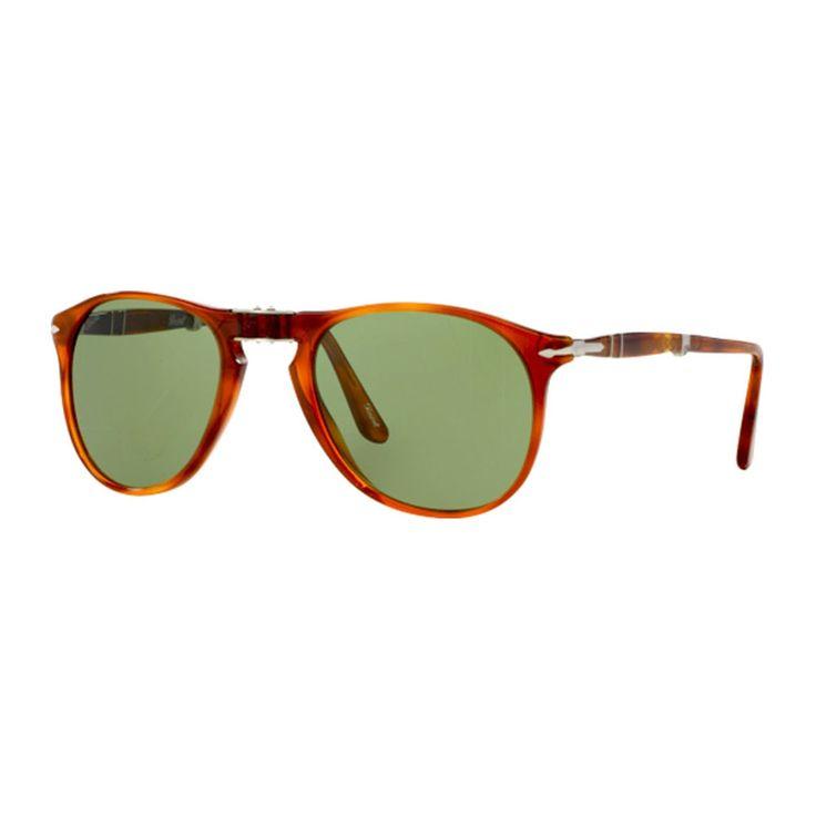 Occhiali da sole Persol modelloPO9714S 96/4E. Occhiale da sole da uomocon montatura in celluloide con forma Pilotdi colore havana. Lenti di colore verde.     http://www.cheocchiali.com/prodotti/occhiale-da-sole-persol-po9714s-964e