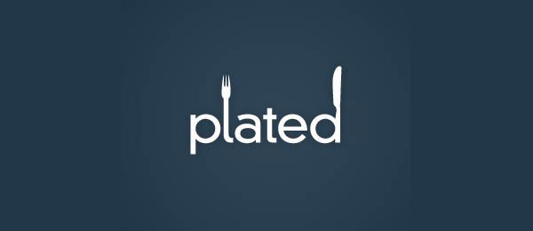Plated restaurant logo. Interesting idea, could have played with the idea of a plate more