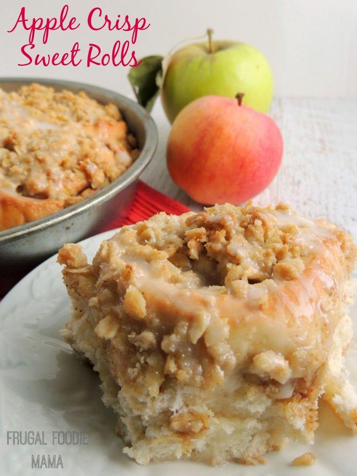 Apple Crisp Sweet Rolls- what happens when fluffy homemade cinnamon rolls meets comforting apple crisp