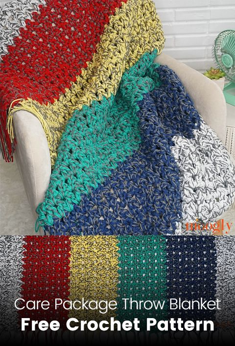 Care Package Throw Blanket Free Crochet Pattern | Crochet Afghans ...