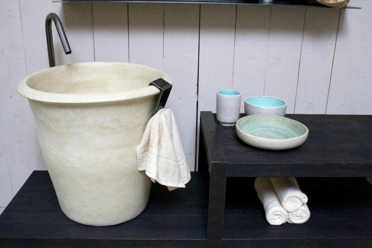 Le Conche consolle, washbasin Le Anfore,  by Alessandro Lasferza Factory, design Vincenzo Catoio