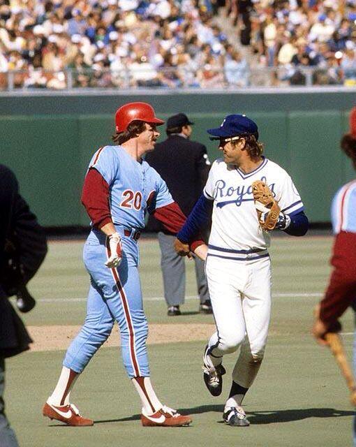 Mike Schmidt & George Brett 1980 World Series