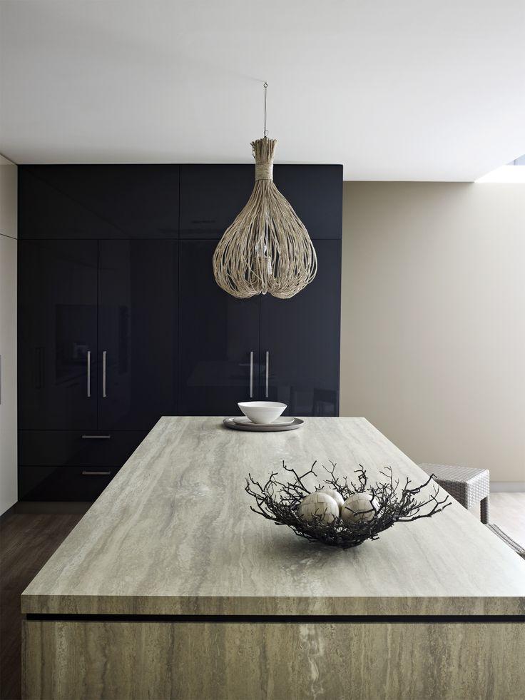 Silver Travertine Formica 180fx Kitchen
