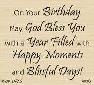 God Bless Birthday Greeting