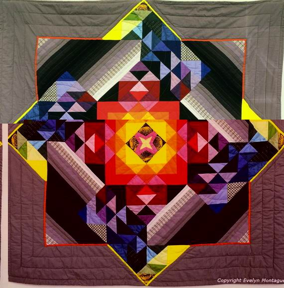 mandala quilt, wow, wow, double wow