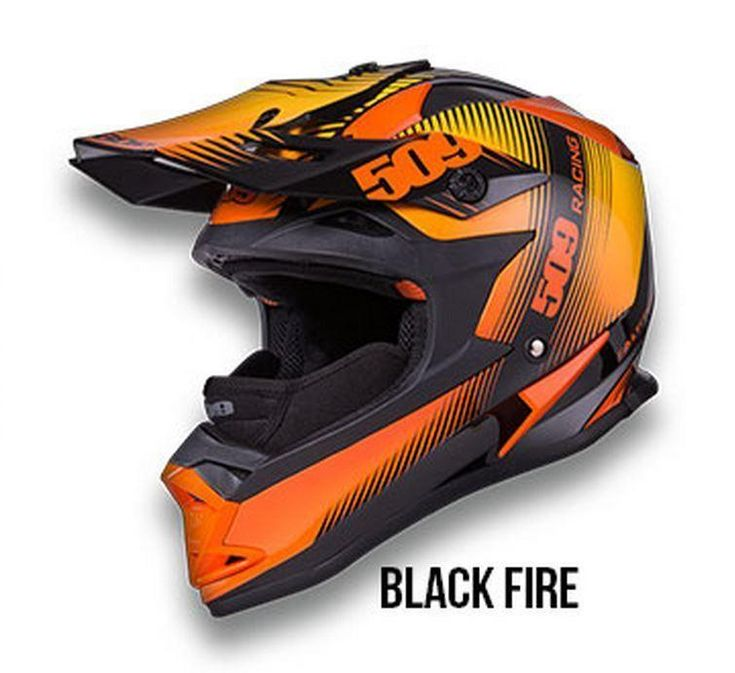 New 509 Altitude Snowmobile Helmet, Black Fire Orange, Small, SM.