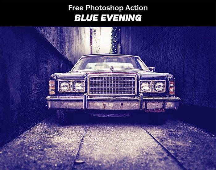 Blue Evening Photoshop Action