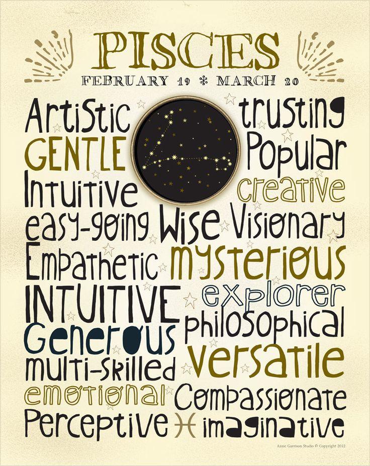 Astrology Art - Pisces Print