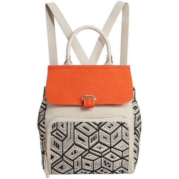 Big Buddha Starry Backpack featuring polyvore, fashion, bags, backpacks, coral multi, big buddha bags, coral bag, rucksack bag, star bag and star backpack