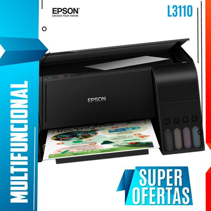 Multifuncional Epson L3110 Negro 33ppm 5760dpi, Tinta Continua (ecotank)