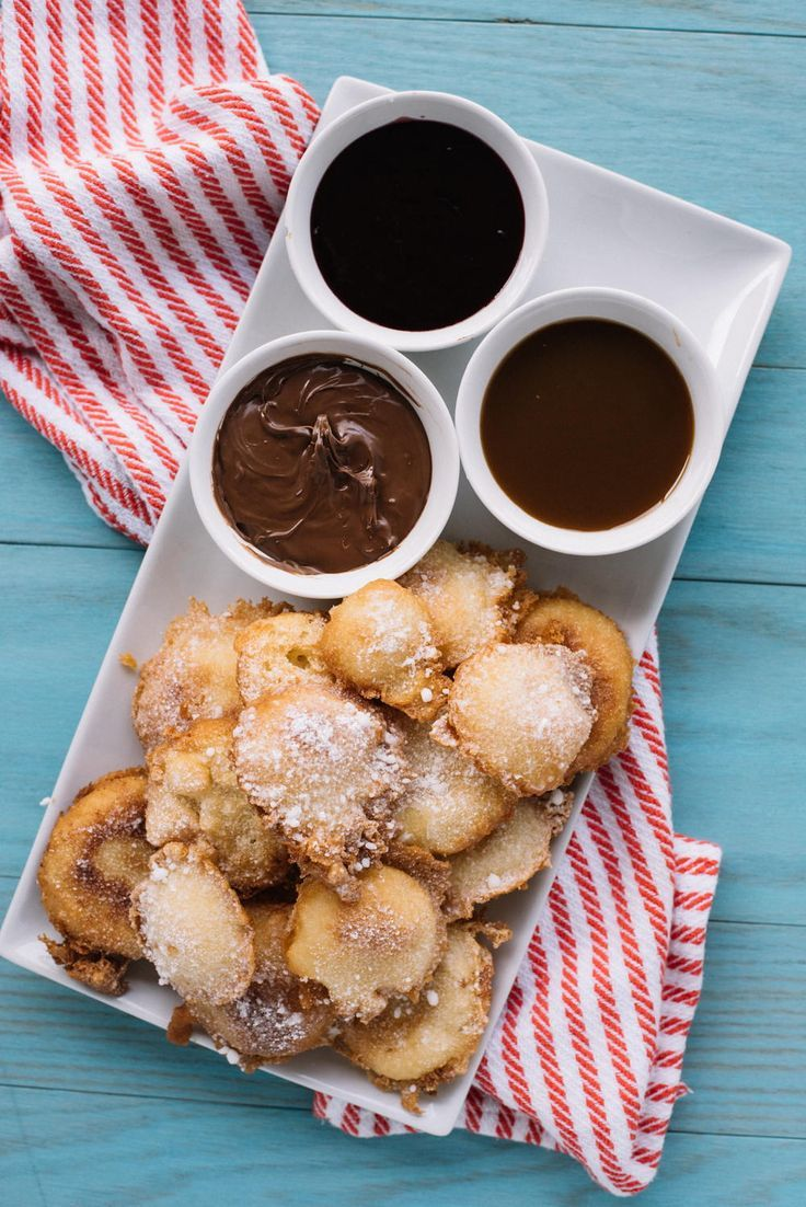 Mini Funnel Cake Desserts - Sabrosos postres fritos - #cake #desserts #fried #fun ...