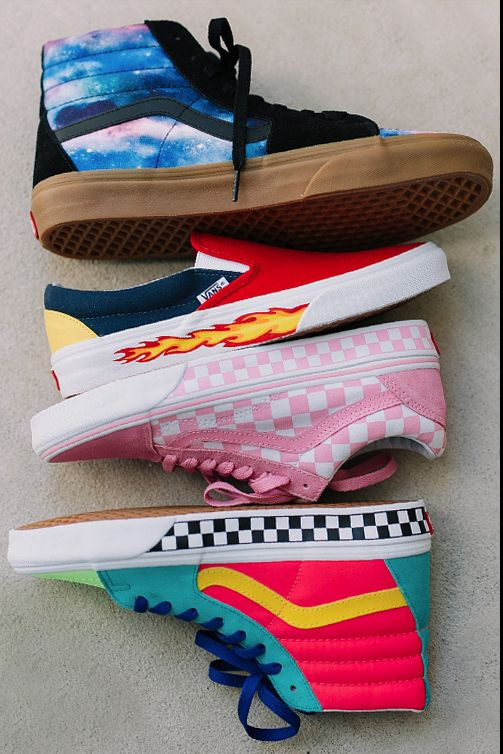 Play designer for the day: mix and match colorways, prints, and materials to create your perfect pair at vans.com/customs