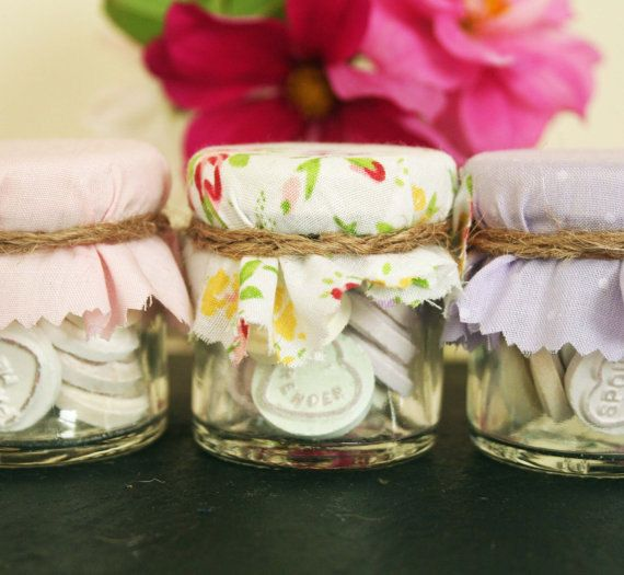 Candy Jar Sweet Jar Wedding Favours Shabby Chic Wedding Loveheart on Etsy, £1.15