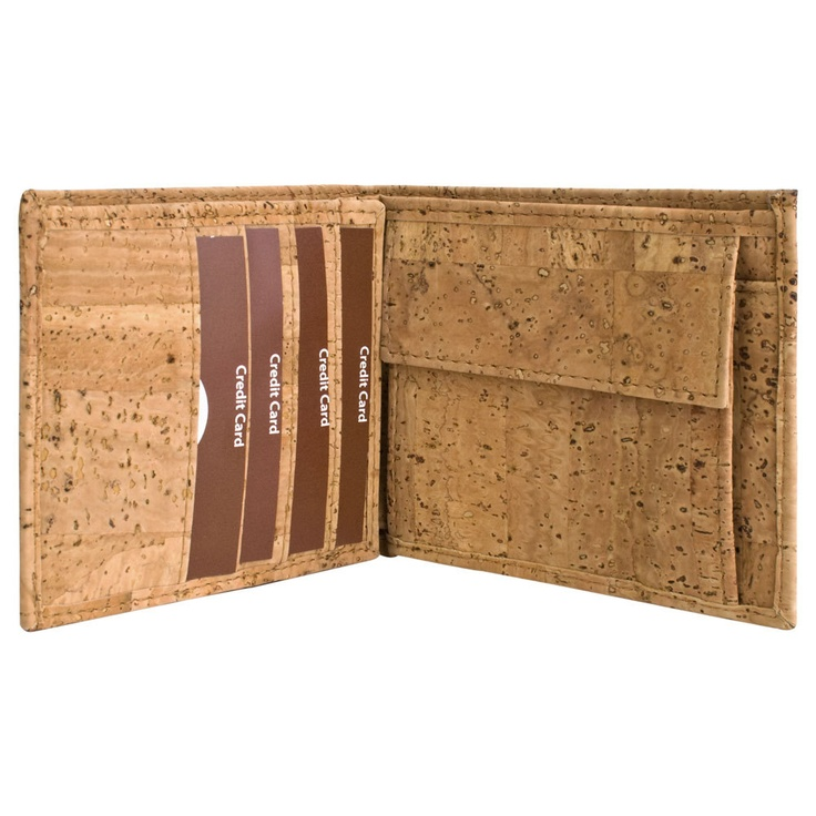 Wallet for Men / Cool Wallet / Made from Green Cork / Best Gift Ideas from Corkor. $49.00, via Etsy.