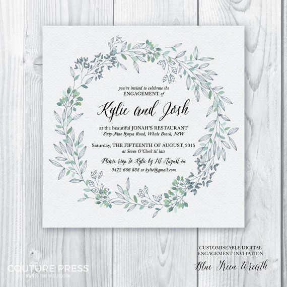 Printable Engagement Party Invitation Engagement by CouturePress